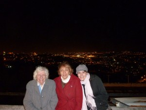 Overlooking Jerusalem at night